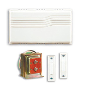 Desa SL-102 Chime Kit, One Entrance, Wired, White