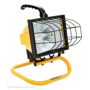 Designers Edge L20 Portable Worklight, Halogen, 500W