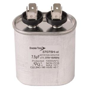 DiversiTech 37075H Motor Run Capacitor, 370V, 7.5uF