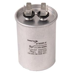 DiversiTech 37300R Motor Run Capacitor, 370V, 30uF
