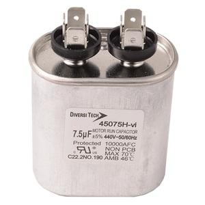DiversiTech 45075H Motor Run Capacitor, 440V, 7.5uF