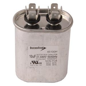 DiversiTech 45100H Motor Run Capacitor, 440v, 10uF