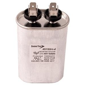 DiversiTech 45150H Motor Run Capacitor, 440V, 15uF