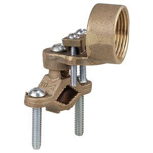 "Dottie 271H 1-1/4 to 2"" Bronze Ground Clamp with 3/4"" Hub"