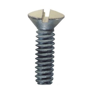 "Dottie 414BRN 1/2"" Oval Head Screw, 6/32"" Thread - Brown, 100 Pack"