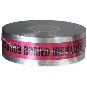 "Dottie DU09 3"" x 1000' Detectable Tape, 5 Mil, High Voltage, Red"