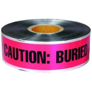 "Dottie DU605 Detectable Barricade Tape, ""Buried Telephone Line Below"", 6"" x 1000', Orange"