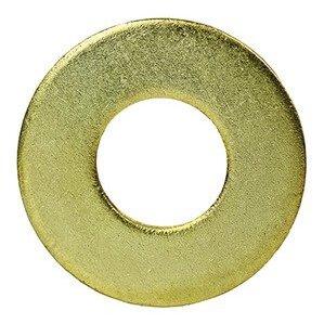 """Dottie FWBR14 Flat Washer, 1/4"""", Brass"""