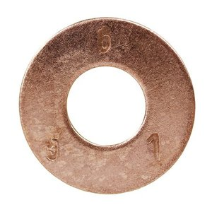 "Dottie FWBZ516 Flat Washer, Silicon Bronze, 3/8"" ID, 7/8"" OD"