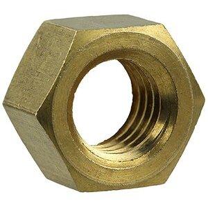 Dottie HNBR832 Hex Nut, Solid Brass, 8-32