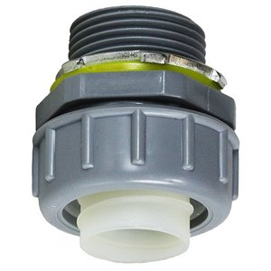 "Dottie NLT50 Straight Connector, Liquid Tite, 1/2"", PVC"