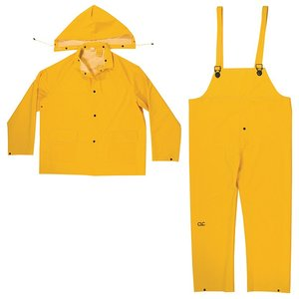Dottie R101X Yellow Polyester 3 Piece Rain Suit, Size XL