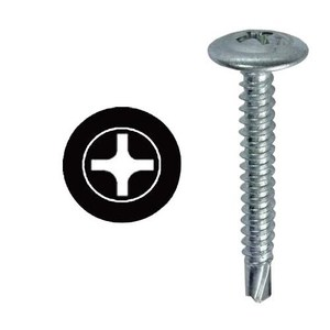 "Dottie TEKWT834 Self Drilling Screws, # 8 x 3/4"", Phillips/Wafer Head"