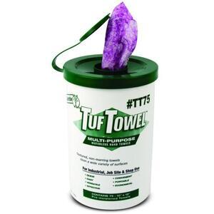 Dottie TT75 Pre-Moistened Multi-Purpose Hand Towels - 75 Towels