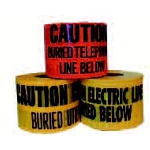 "Dottie UT29D ""Buried Electric Line Below"" Underground Tape, 6"" x 1000', Red"