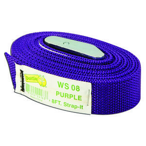 Dottie WS08 Web Strap w/ Buckle, Nylon, 8', Purple