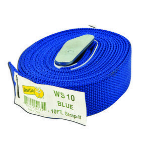 Dottie WS10 10' Web Strap w/ Buckle, Nylon - Blue