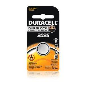 Duracell DL2025BPK Battery, 3V, DL2025, Lithium, Button Cell