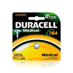 Duracell MS76BPK09 Battery, 1.5V, 76A, Silver Oxide, Button Cell