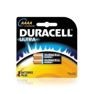 Duracell MX2500B2PK Battery, 1.5V, AAAA, Alkaline