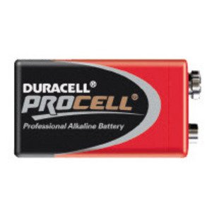 Duracell PC1604TC24 Battery, 9V, 6LR61, Alkaline, Miniature Snap Terminal
