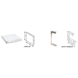 "E-Box 12-EC Wireway End Plate, 12"" x 12"", Type 1, Galvanized, No KO"