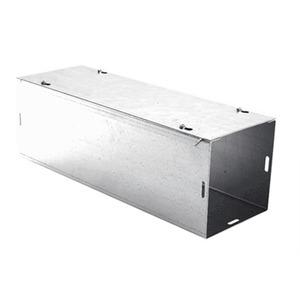 "E-Box 4-88SWP Wireway, Type 1, Screw Cover, 8"" x 8"" x 48"", Steel, Gray, No KOs"