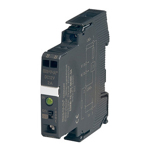 E-T-A Circuit Breakers ESX10-TB-101-DC24V-2A-E Electronic Breaker, Din Rail Mount, 2A, 24VDC, Signal Contact
