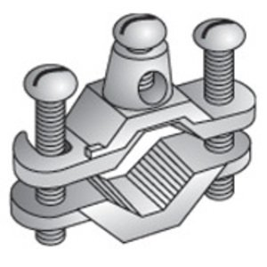 """EGS GC-1-DB Ground Clamp, Water Pipe: 1/2 - 1"""", Wire Range: 10 - 2/0 AWG, Bronze"""