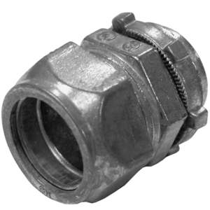 """EGS TCI-604 EMT Compression Connector, Insulated,Concrete Tight, 1-1/4"""", Steel/Zinc"""