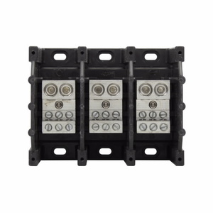 Eaton/Bussmann Series 16325-3 Power Distribution Block, 3-Pole, Double Primary - Multiple Secondary