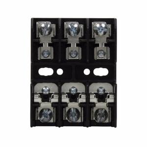 Eaton/Bussmann Series BC6033S Fuseblock, Class CC, 3-Pole, 30A, 600V, Screw Terminal