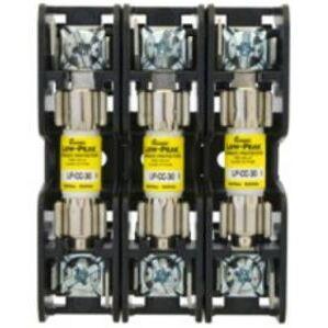 Eaton/Bussmann Series BMM603-3C Fuse Block, 3P, 30A, 600V AC/DC, 10 x 38mm, Box Lug, 200kAIC