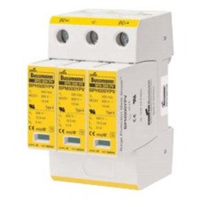 Eaton/Bussmann Series BSPH31000YPV Surge Protection, Din-Rail Mount, 3P, 1000VDC, 30kA