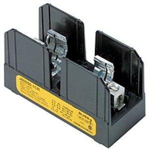 Eaton/Bussmann Series J60030-3CR Fuse Block, Class J, 3-Pole, 1/2-30A, 600V, Box Lug w/Retaining Clip
