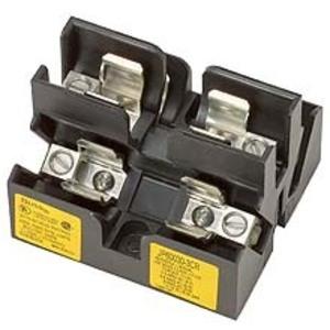 Eaton/Bussmann Series JP60030-3PR Fuse Block, Class J Pyramid, 30A 600V, Screw Terminal w/Plate