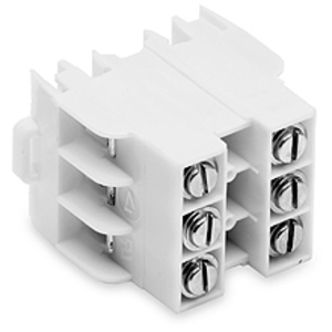 Eaton/Bussmann Series NDN63-WH-UL Terminal Block, 600 VAC/DC, Rating: 100kA, 65A, 16 - 18 AWG, 3-Pole, Suitable for 35mm Din Rail and C-Rail Mount