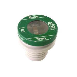 Eaton/Bussmann Series SL-30 30 Amp Plug Fuse, Time-Delay, 125 Volt, Tron