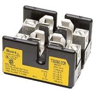 Eaton/Bussmann Series T30060-2CR Class T Fuse Block, 2-Pole, 31-60A, 300V, Box Lug Terminal w/Clip