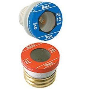 Eaton/Bussmann Series TL-15 Plug Fuse, 15A , Time-Delay, Edison Base, 125VAC, Light Duty