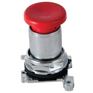 Eaton 10250ED1043-4 Latch-In, Twist-To Release Operator, Red Mushroom Button