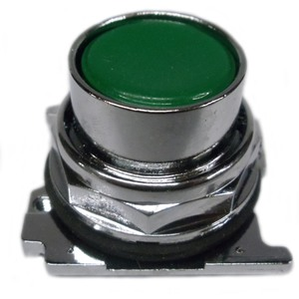 Eaton 10250T103 30.5 mm, Heavy-Duty, Pushbutton Operator, Flush, Green
