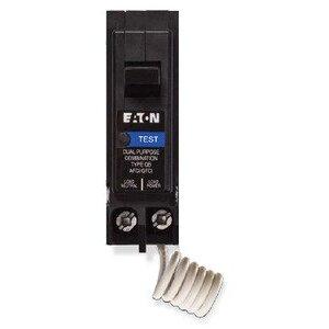 Eaton BRAFGF115QN Breaker, 15A, 1P, 120/240V, 10 kAIC, Type BR Combo AFCI/GFCI