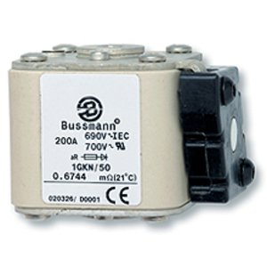 Eaton/Bussmann Series 170M6461 Fuse, 700A Square Body, Flush End, 3, Type K Indicator, 690/700V