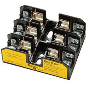 Eaton/Bussmann Series BG3023SQ Class G Fuse Block, 3-Pole, 20A, 600V, Screw Terminal