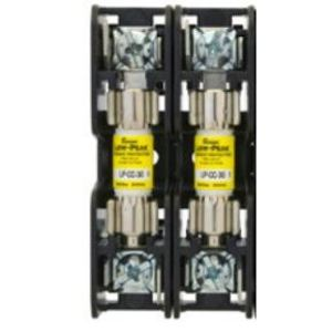 Eaton/Bussmann Series BMM603-2PQ Fuse Block, 2P, 30A, 600V AC/DC, 10 x 38mm, Quick Connect, 200kAIC