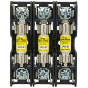Eaton/Bussmann Series BMM603-3SQ Fuse Block, 3P, 30A, 600V AC/DC, 10 x 38mm, Quick Connect, 200kAIC