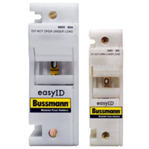 Eaton/Bussmann Series CH30J1I Fuse Holder, Class J, Modular, 1P, 30A, 600V, 35mm DIN/Panel Mount