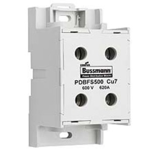 Eaton/Bussmann Series PDBFS500 Distribution Block, High SCCR, Finger-Safe, 2 Primary - 2 Secondary