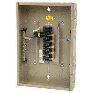 Eaton CH22B100C Load Center, Main Breaker, 100A, 120/240V, 1PH, 22/22, NEMA 1